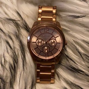 Fossil Watch Rose Gold Like New No Battery